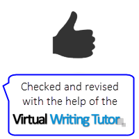 Checked and revised with the help of the Virtual Writing Tutor grammar checker